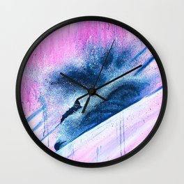 'Pink Champagne' Wall Clock