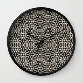 Vintage retro flower background pattern Wall Clock