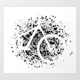 Mountain Bike Cycling Lover Cyclist Bicycle Art Print