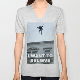 I Want to Believe in Sherlock Holmes Unisex V-Neck