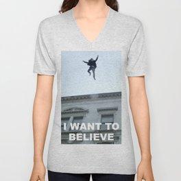 I Want to Believe in Sherlock Holmes Unisex V-Neck