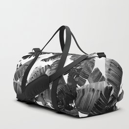 Banana Black & White Duffle Bag