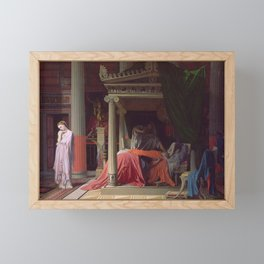 Jean-Auguste-Dominique Ingres - Antiochus and Stratonice Framed Mini Art Print