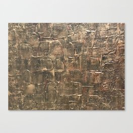 Textured Bronze Gold Metal Painting on Canvas Canvas Print