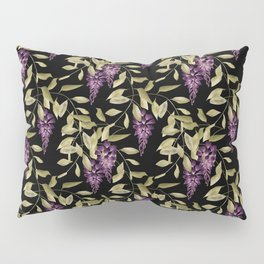 The Branches Of Wisteria . Black . Pillow Sham