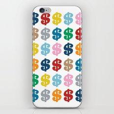 Colourful Money 48 iPhone & iPod Skin