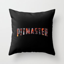 Pitmaster Funny Dad Grilling Grill BBQ Shirts Throw Pillow