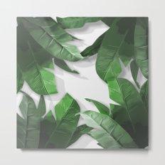 Tropical Palm Print Shadows Metal Print