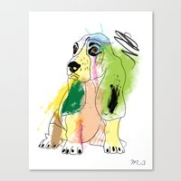 dog Canvas Prints featuring dog by mark ashkenazi
