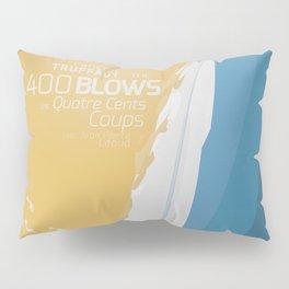 The 400 Blows, les Quatre cents coups, François Truffaut, minimalist movie poster, Jean-Pierre Léaud Pillow Sham