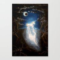 the last unicorn Canvas Prints featuring Last unicorn by Zuzana Ondrejkova