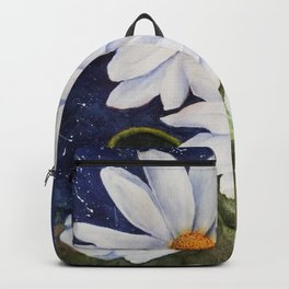 CLASSIC WHITE DAISIES in WATERCOLORS Backpack
