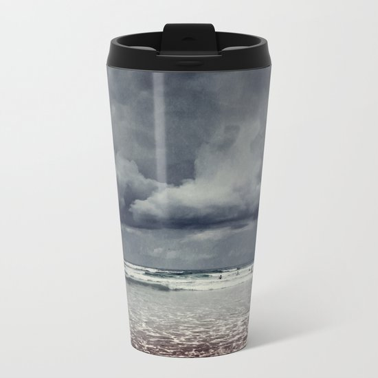 elemental - surf and clouds Metal Travel Mug