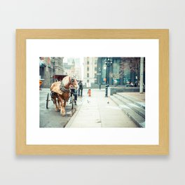 Montreal Taxi Framed Art Print