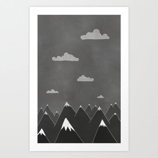 Chalkboard Winter Art Print