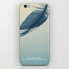 no one is free iPhone & iPod Skin