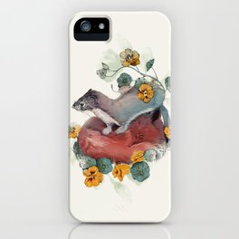 Stoat & Fox iPhone Case