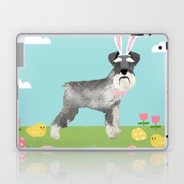 Schnauzer easter dog breed pet pattern rescue dog schnauzers lovers spring easter eggs Laptop & iPad Skin