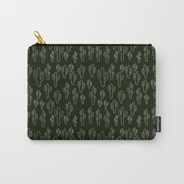 Cactus in B&W Carry-All Pouch