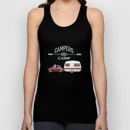 NEVER STOP EXPLORING - CAMPERS GONNA CAMP Unisex Tank Top