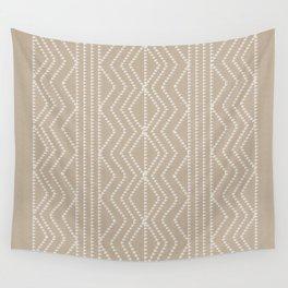 Cream Linen Beige Arrows Pattern Wall Tapestry