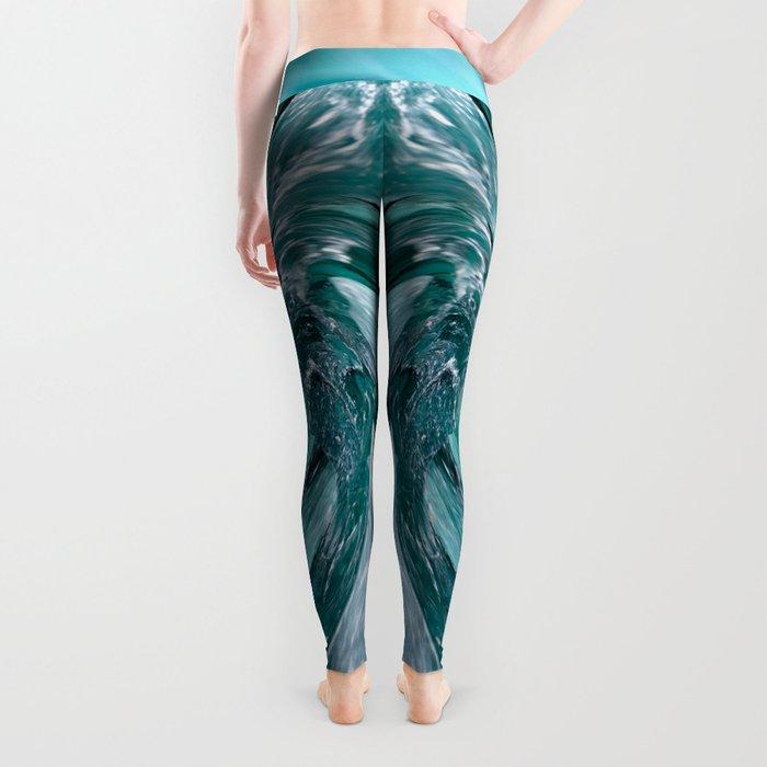 Blue Vortex Leggings