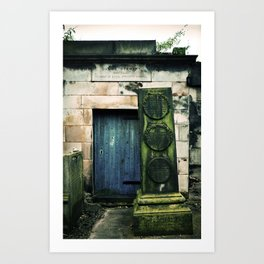 In Old Calton Cemetery Art Print