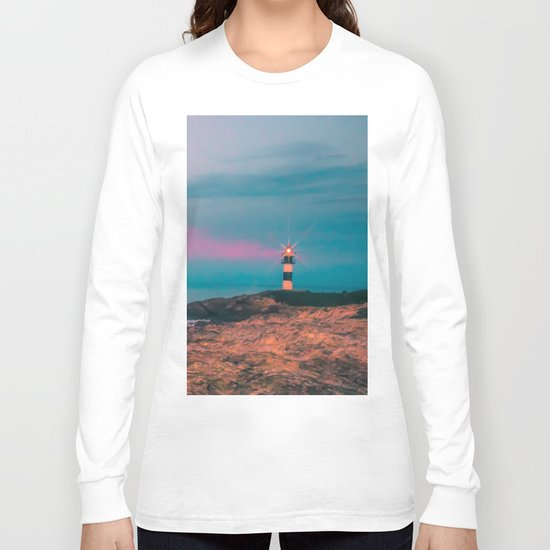 Lighthouse of the Isla Pancha Long Sleeve T-shirt