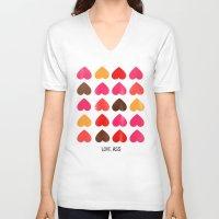 ass V-neck T-shirts featuring LOVE ASS by Lulla