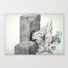 1991 - Still Life Of Stone And Paper (High Res) Canvas Print