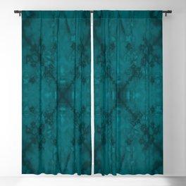 Green star kaleidoscope pattern Blackout Curtain