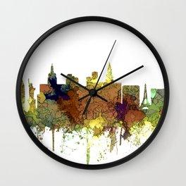 Las Vegas Skyline - Safari Buff Wall Clock