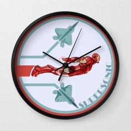 iron man and F22 raptor  Wall Clock