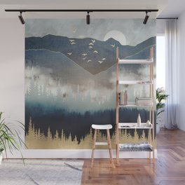 Blue Mountain Mist Wall Mural