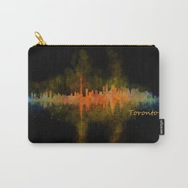 Toronto Canada City Skyline Hq v02 dark Carry-All Pouch