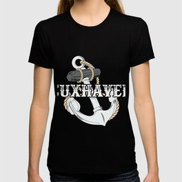 Cuxhaven anchor sea island harbor Wadden Sea T-shirt