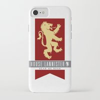 lannister iPhone & iPod Cases featuring House Lannister Sigil by P3RF3KT