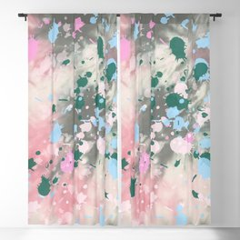 Tie Dye Splatter Blackout Curtain