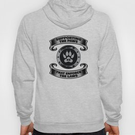 K-9 Dog Police Officer Apparel Thin Blue Line Gift Hoody
