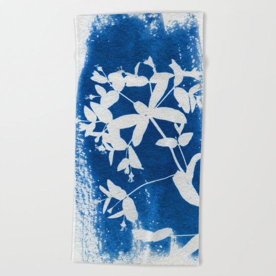 Herbal Sunprint #5 Beach Towel