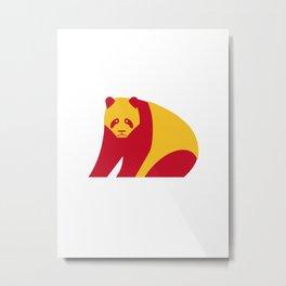 Giant panda - China national symbol, flag colors Metal Print