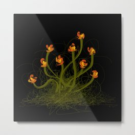 Flowerthread No1 [orange blooms] Metal Print
