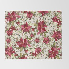 POINSETTIA - FLOWER OF THE HOLY NIGHT Throw Blanket