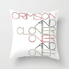 Crimson and Clover Over and Over Throw Pillow