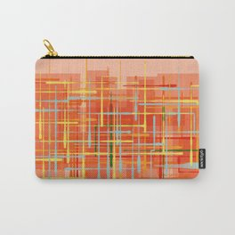 Abstract Orange Terminal Carry-All Pouch