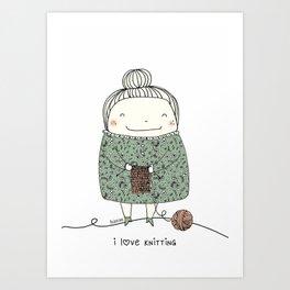 I love knitting Art Print