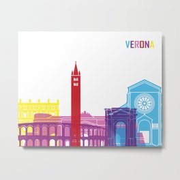 Verona skyline pop Metal Print