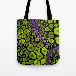Paths of Color [green & purple] Tote Bag