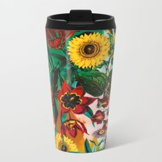 Multicolor Exotic Pattern Metal Travel Mug