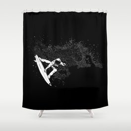 The Surfer Cosmic Shower Curtain